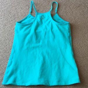 Beyond Yoga tank top sz S green soft shelf bra